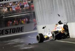 Piquet ensayó su accidente en Singapur