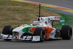 Pretemporada: Primeros tests en Valencia. Force India