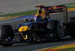 Pretemporada. Primeros tests en Valencia. Red Bull RB7