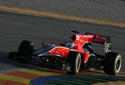 Pretemporada: Primeros tests en Valencia. Virgin con el coche viejo