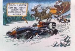 Red Bull gana la fecha de los saludos de navidad