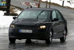 Se filtra un teaser del VW Polo Sedán.