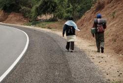 Se sancionará a peatones infractores en carreteras rurales