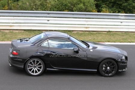 Fotos espía del Mercedes SLK AMG 2012 en Nürburgring