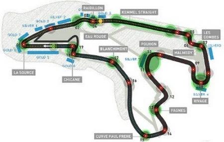 GP de Bélgica: recorrido virtual por el circuito