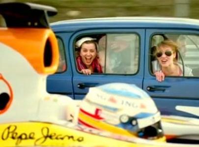 Haciendo memoria, Fernando Alonso en un spot de ING