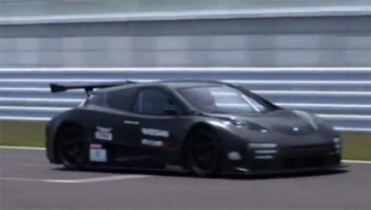 Nissan prueba el Leaf Nismo RC en el circuito