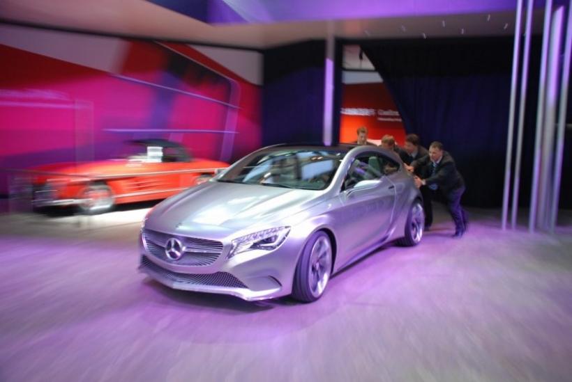 Papelón del Mercedes Clase A Concept en el Salón de Shangai