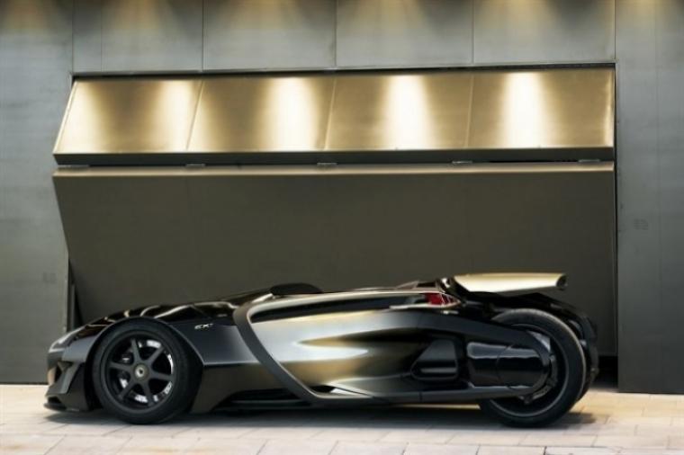 Peugeot EX1, un concept eléctrico nacido para batir records de velocidad.