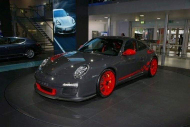 Porsche 911 GT3 RS en su camino al Salón de Frankfurt