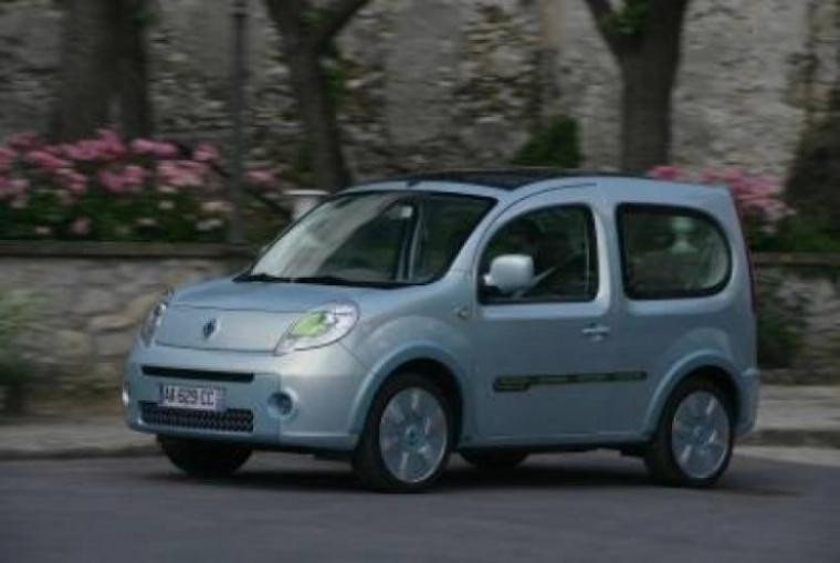 Renault prueba el primer Kangoo be bop eléctrico.