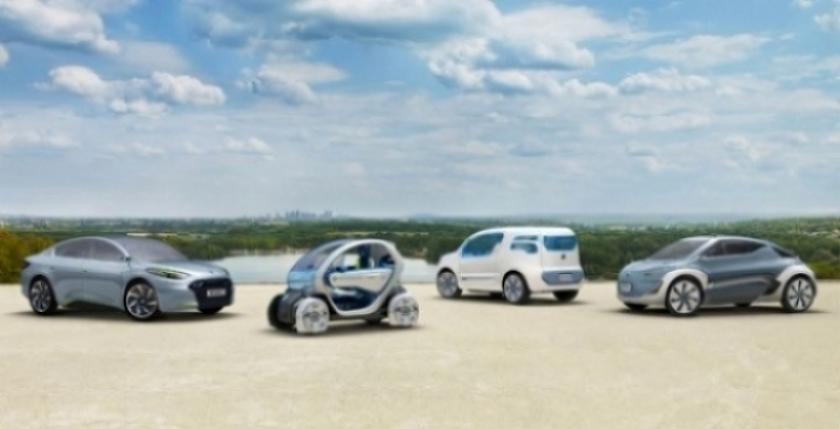 Salón de Frankfurt: Renault presenta sus cuatro conceptos electricos.