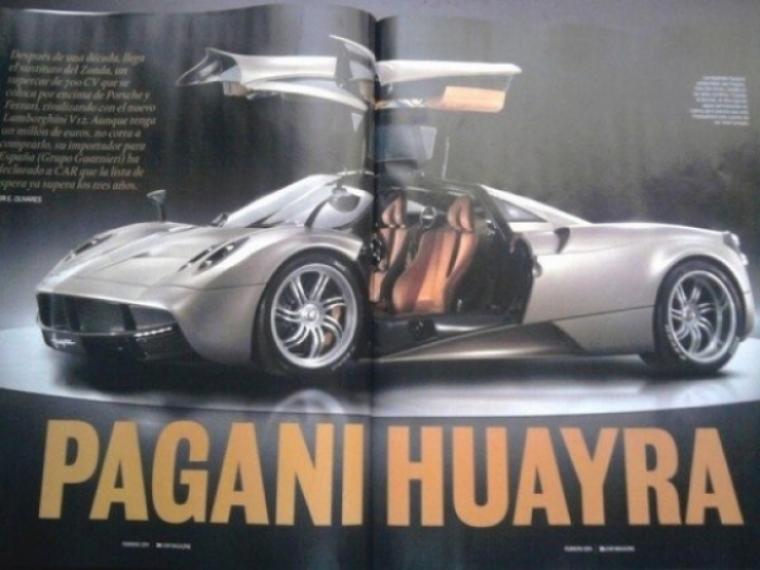 Se filtran las primeras fotos oficiales del Pagani Huayra