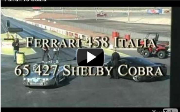 Shelby Cobra del 65 vs Ferrari 458 Italia se juegan 400.000 dólares en el cuarto de milla