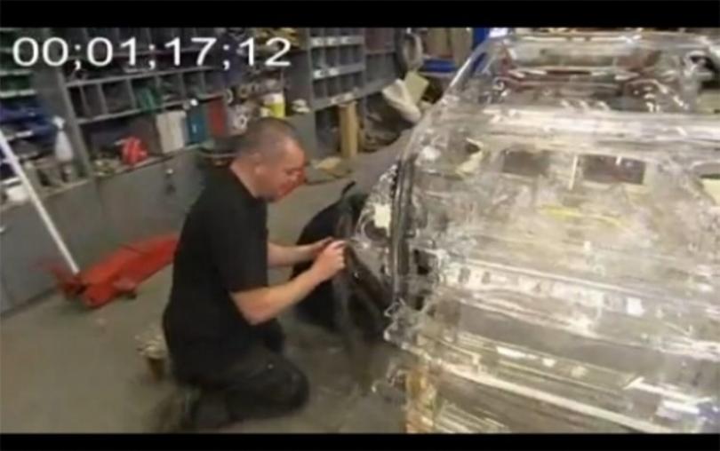 Shell y su Nissan 370Z transparente