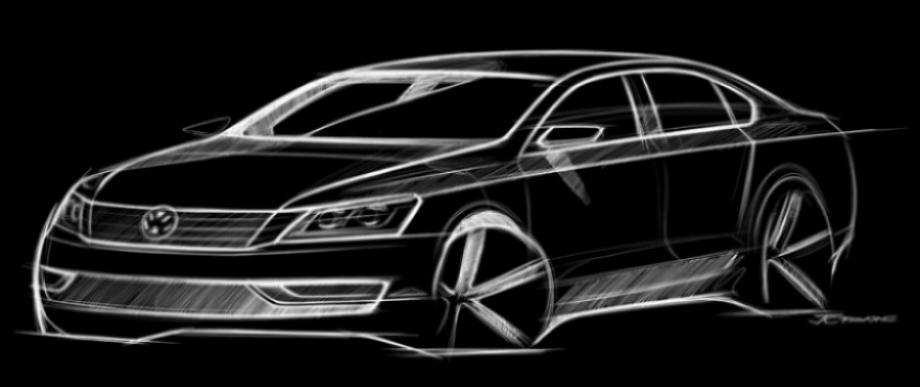Volkswagen muestra las líneas de su próximo sedán americano.