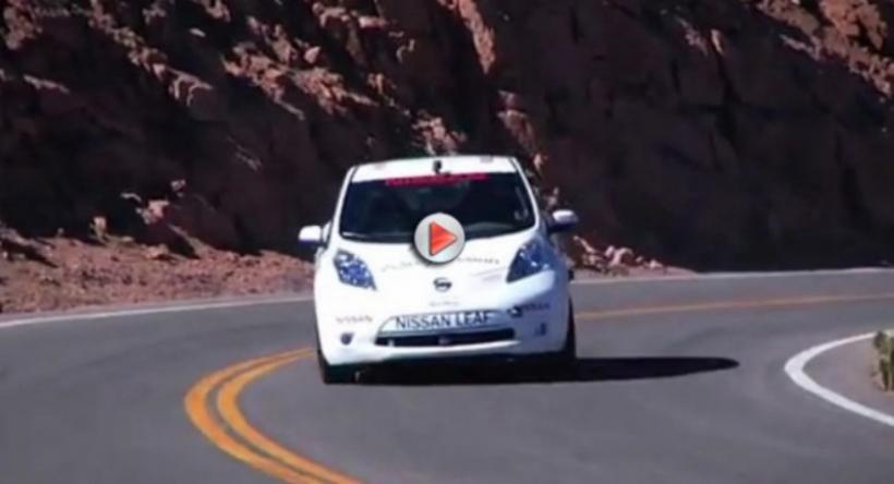 Así fue la subida del Nissan Leaf a Pikes Peak
