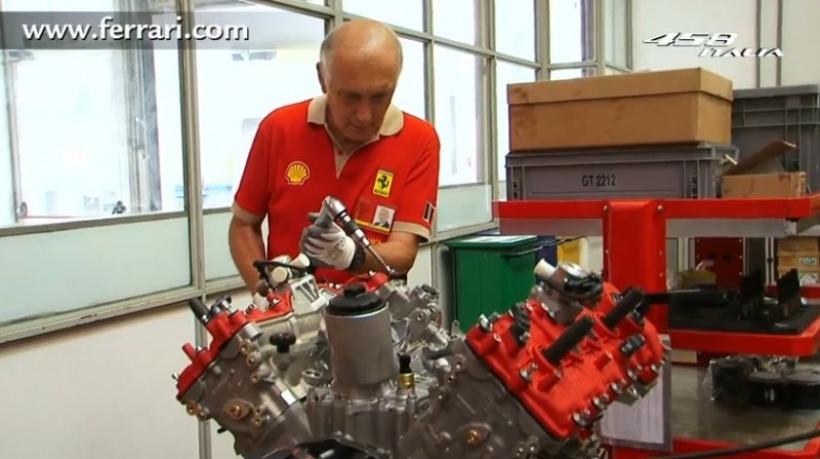 Así se fabrica el motor de una Ferrari 458 Italia