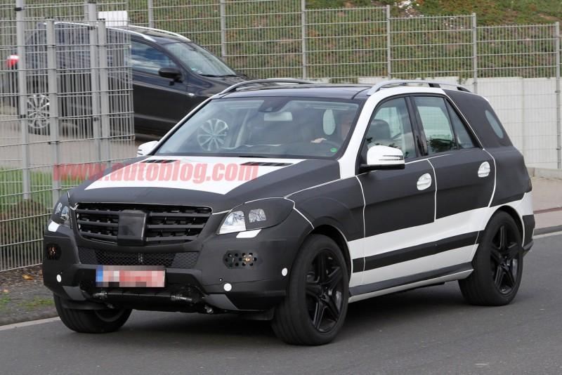 Fotos espía del Mercedes ML63 AMG 2012 (con vídeo)
