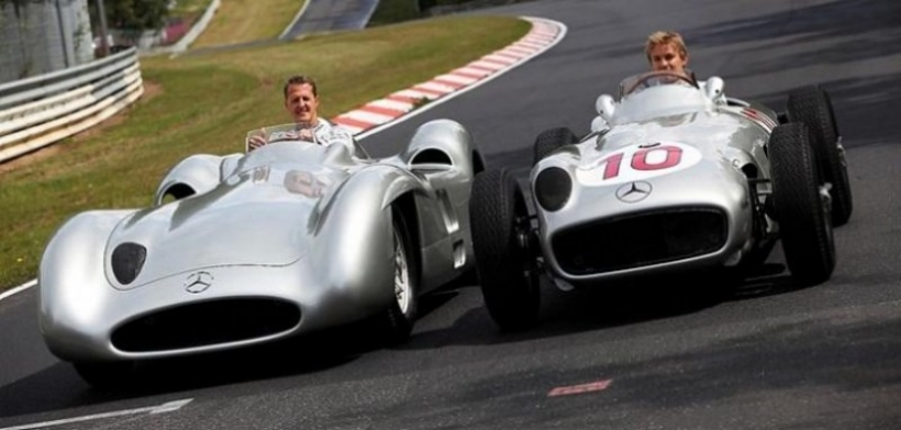 Schumacher y Rosberg probaron las verdaderas Flechas de Plata