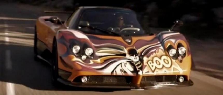El Pagani Zonda Batman sorprende en las carreteras europeas