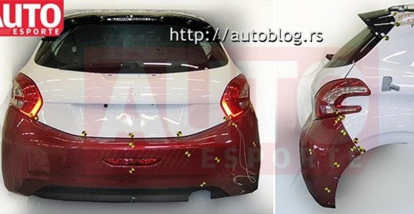 Asoma la trasera del Peugeot 208
