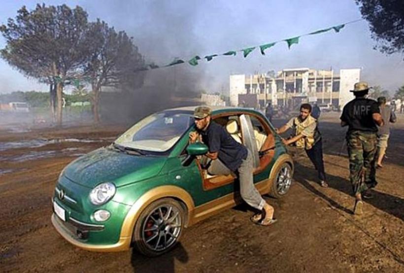 Encuentran el Fiat 500 eléctrico de Khadafi