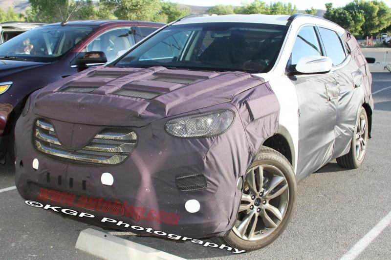 Fotos espía del Hyundai Santa Fe 2012