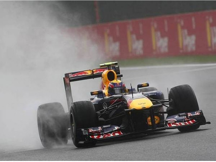 GP Bélgica 2011, Libres 3: otra vez lluvia, otra vez Webber
