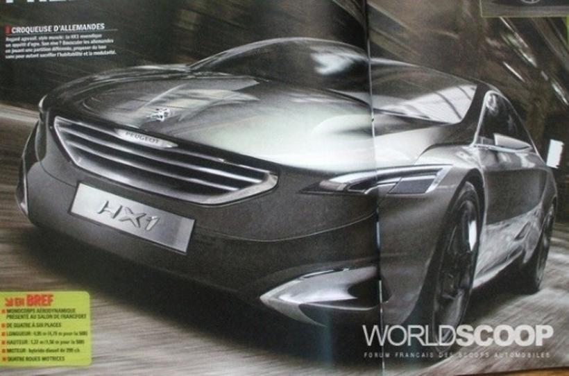 Imágenes filtradas del Peugeot HX1