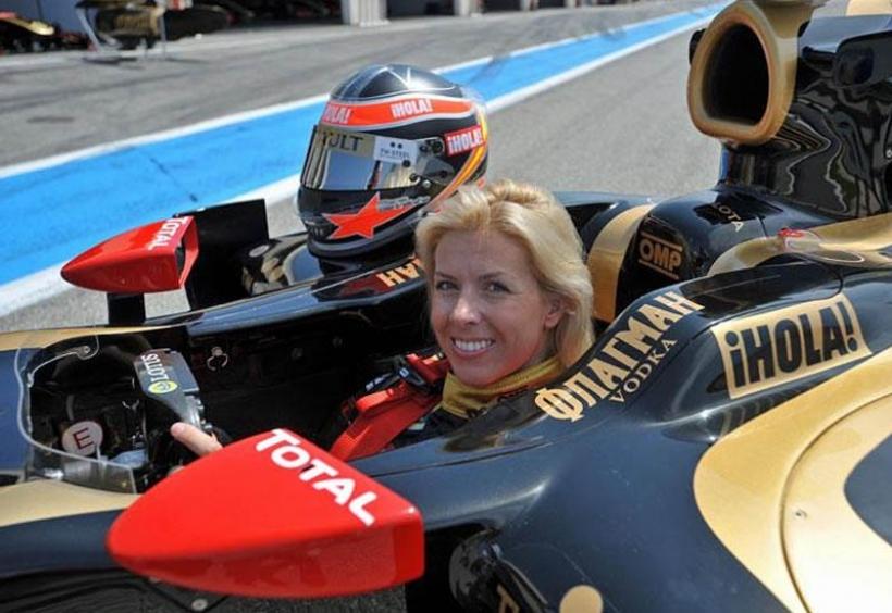 María de Villota prueba el Renault R29