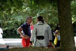 Button se defiende de Eddie Irvine