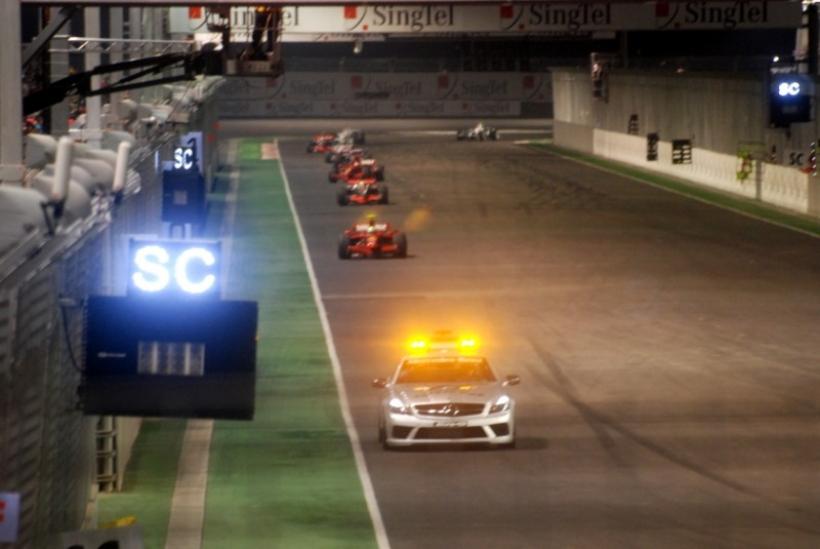 Singapur y el Safety Car... por estadística, liderará la carrera alguna vuelta