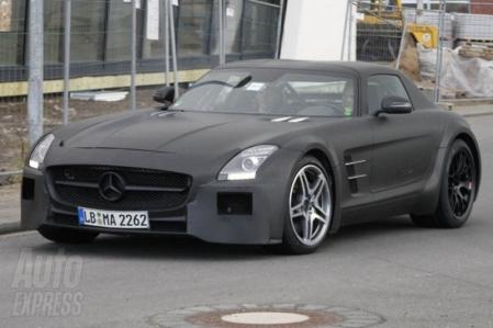 Fotos espías del Mercedes SLS AMG Black Series