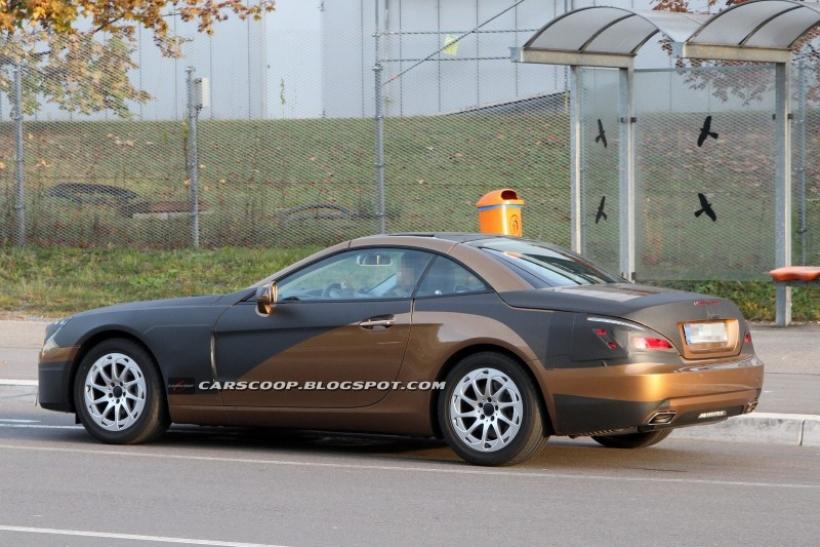 Fotos espía del Mercedes SL 2012