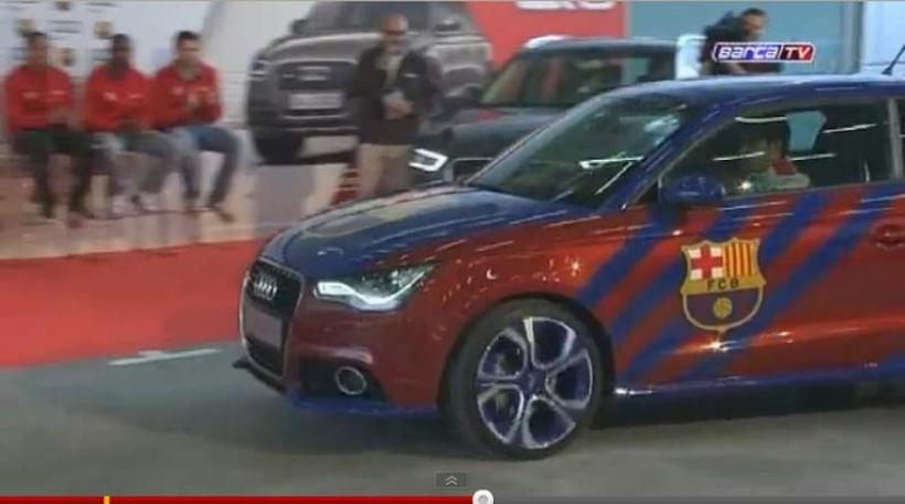 Messi y todo el Barça disfrutan de sus nuevos Audi