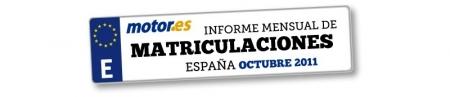 Los coches más vendidos en España. Octubre 2011