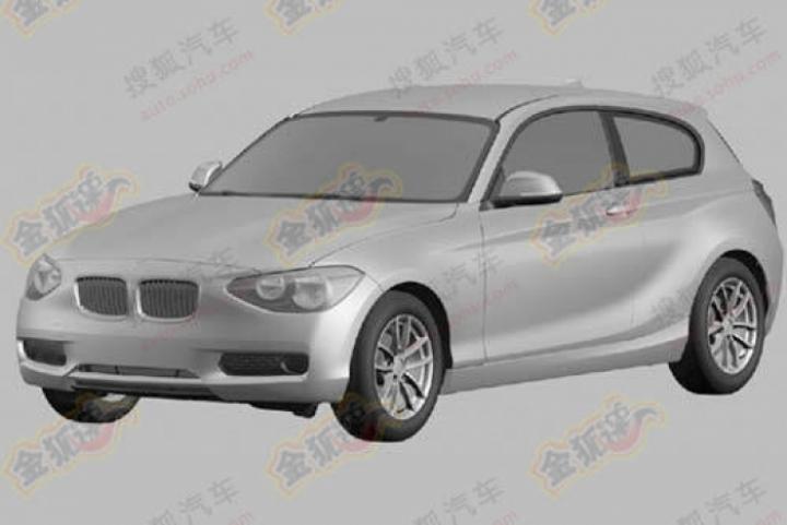 Se filtra el boceto de patentamiento del BMW Serie1 2012 tres puertas