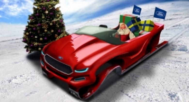 Ford diseña un concepto de trineo para Papá Noel
