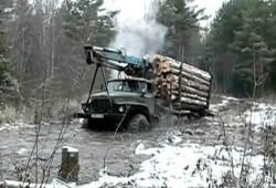 Los camioneros rusos no necesitan puentes