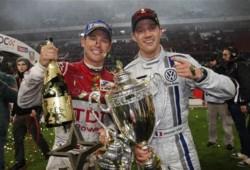 Sebastian Ogier y el equipo alemán los triunfadores de la Carrera de Campeones 2011