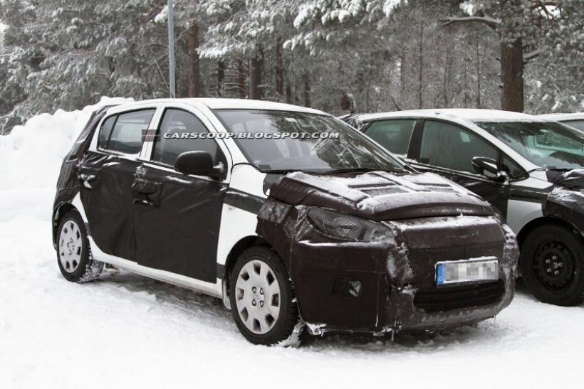 Cazado en pruebas el Hyundai i20 2012: i20 a lo Fluidic Sculpture