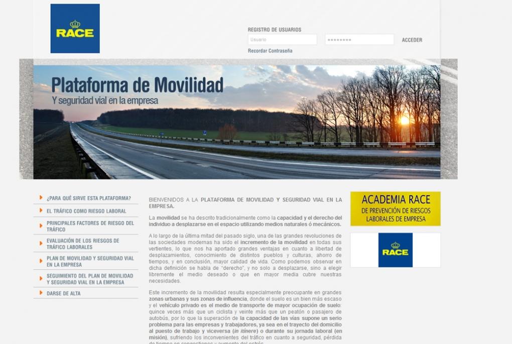 RACE lanza una plataforma para empresas destinada a mejorar la seguridad vial laboral
