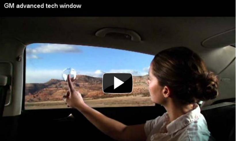 General Motors presenta las ventanas traseras interactivas