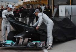 Pillan el W03 (Mercedes) en su Shakedown antes de su presentación oficial