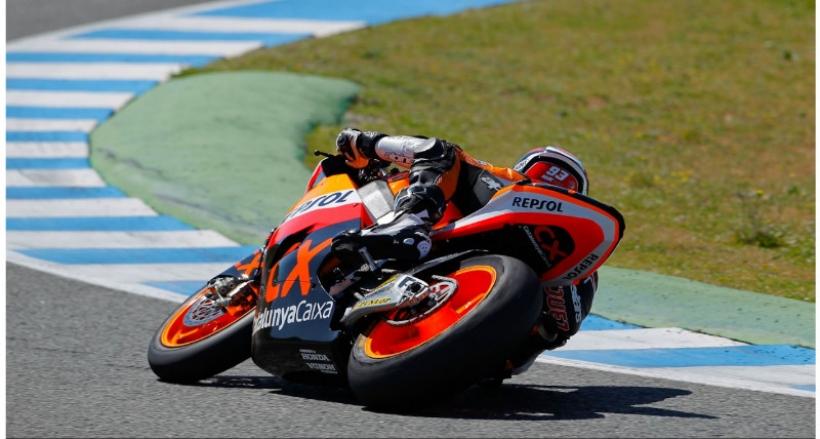 Marc Márquez el español más rápido en Jerez el día 2