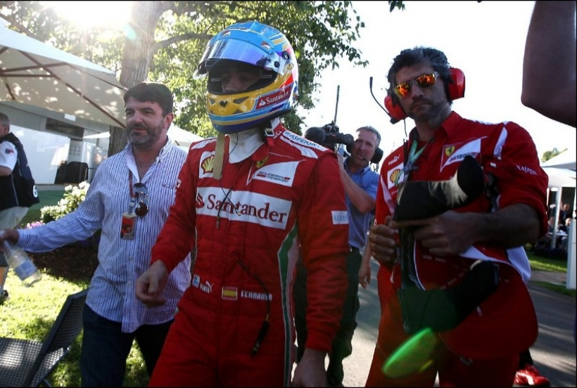 Fernando Alonso en el Gran Premio de Australia