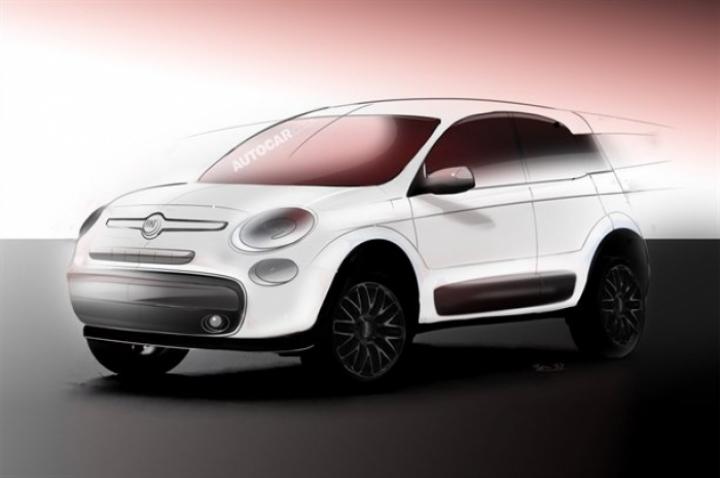 Fiat prepara un crossover sobre la base del 500