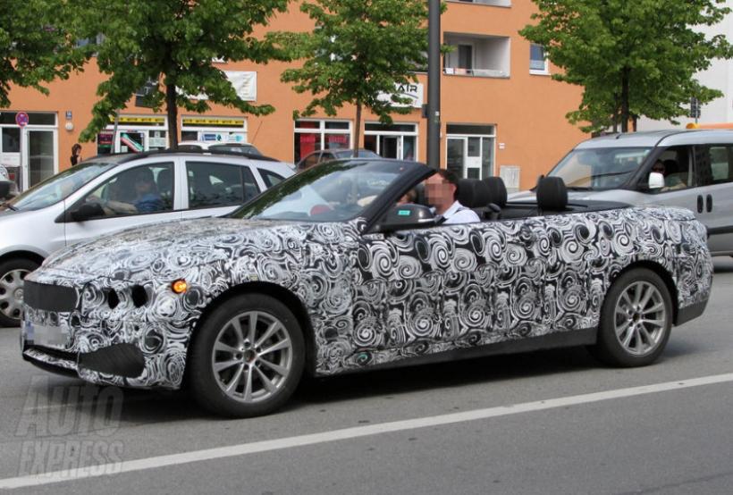 Fotos espías del BMW Serie 4 Cabrio con el techo bajo