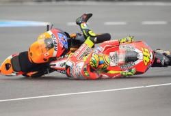 Rossi y Stoner pensaron en la colisión de Jerez